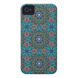 Carcasa Para iPhone 4 De Case-Mate Modelo floral étnico abstracto colorido de la