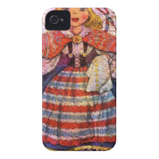 CARCASA PARA iPhone 4 DE Case-Mate MUÑECA SWEEDISH DEL MUNDO
