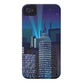 Carcasa Para iPhone 4 De Case-Mate NightCityScape_VectorDTL