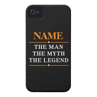 Carcasa Para iPhone 4 De Case-Mate Nombre personalizado el hombre el mito la leyenda