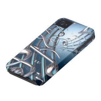 Carcasa Para iPhone 4 De Case-Mate Notas musicales abstractas
