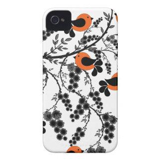 Carcasa Para iPhone 4 De Case-Mate pájaros anaranjados
