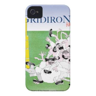 Carcasa Para iPhone 4 De Case-Mate Paso de Maria del saludo del Gridiron, fernandes