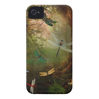 Carcasa Para iPhone 4 De Case-Mate Patio de la libélula