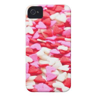 Carcasa Para iPhone 4 De Case-Mate Pequeños caramelos rosados y blancos rojos del día