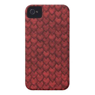 Carcasa Para iPhone 4 De Case-Mate Piel roja del dragón
