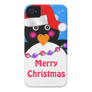 Carcasa Para iPhone 4 De Case-Mate Pingüino del día de fiesta