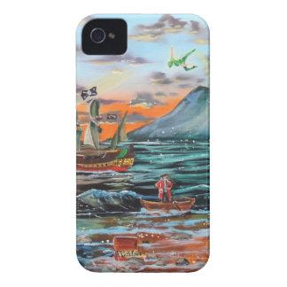 Carcasa Para iPhone 4 De Case-Mate Pintura de Bell del chapucero de la ensenada del