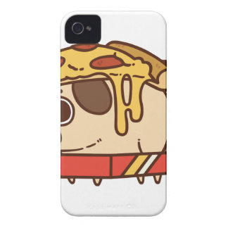 Carcasa Para iPhone 4 De Case-Mate Pizza Pug-01