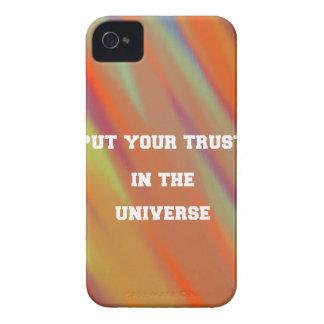 Carcasa Para iPhone 4 De Case-Mate Ponga su confianza en el universo