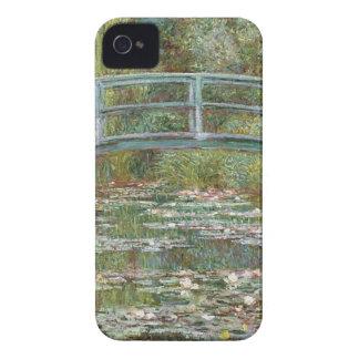 Carcasa Para iPhone 4 De Case-Mate Puente sobre una charca de los lirios de agua