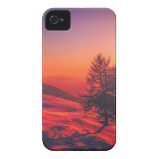 Carcasa Para iPhone 4 De Case-Mate Puesta del sol de la tarde Nevado