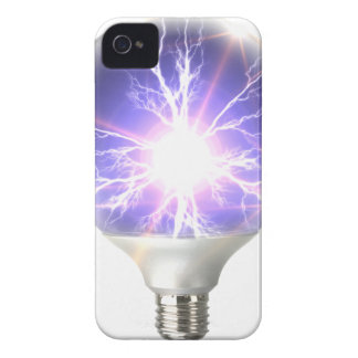 Carcasa Para iPhone 4 De Case-Mate Relámpago del bulbo