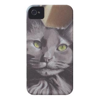 Carcasa Para iPhone 4 De Case-Mate Retrato gris del mascota del gato