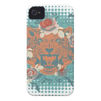 Carcasa Para iPhone 4 De Case-Mate Retrato ornamental 3 del tigre