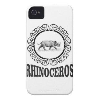 Carcasa Para iPhone 4 De Case-Mate Rinoceronte del círculo