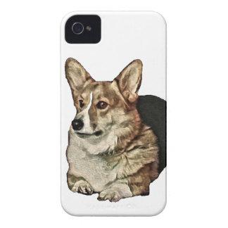 Carcasa Para iPhone 4 De Case-Mate Sentada tricolora del Corgi Galés