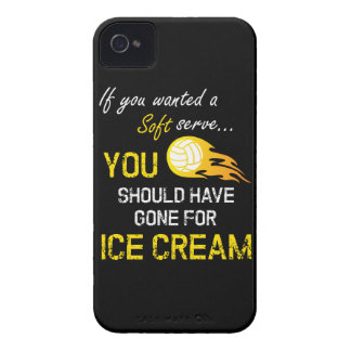 Carcasa Para iPhone 4 De Case-Mate Si usted quiso un suave sirva el helado - voleibol