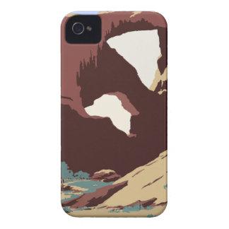 Carcasa Para iPhone 4 De Case-Mate Sudoeste América los E.E.U.U. del poster del viaje