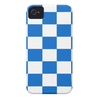 Carcasa Para iPhone 4 De Case-Mate Tableros de damas azules y blancos