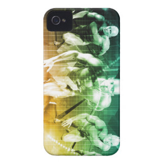 Carcasa Para iPhone 4 De Case-Mate Tecnología avanzada como ÉL fondo del concepto