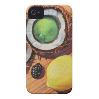 Carcasa Para iPhone 4 De Case-Mate Unidad del coco del limón de la cal de StBerry