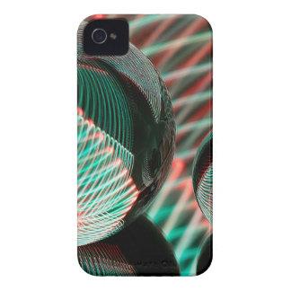 Carcasa Para iPhone 4 De Case-Mate Verde y rojo en la bola de cristal