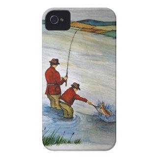Carcasa Para iPhone 4 De Case-Mate Viaje de pesca del padre y del hijo