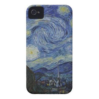 Carcasa Para iPhone 4 De Case-Mate Vincent van Gogh - noche estrellada. Pintura del