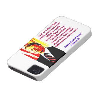 Carcasa Para iPhone 4 De Case-Mate Y creemos esa paz de mundo - Jimmy Carter