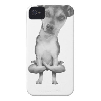 Carcasa Para iPhone 4 De Case-Mate Yogi Doggie cute dog in yoga asana , cool funny