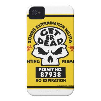CARCASA PARA iPhone 4 DE Case-Mate ZOMBIE-PERMIT