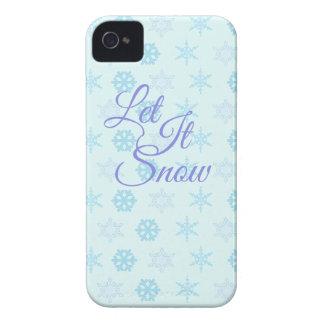 Carcasa Para iPhone 4 Dejáis le sea navidad Nevado