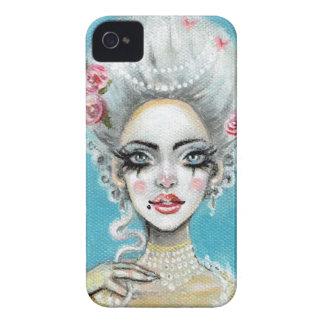 Carcasa Para iPhone 4 Déjelos comer la mini magdalena de Marie Antonieta
