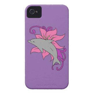 Carcasa Para iPhone 4 Delfín al lado de un lirio