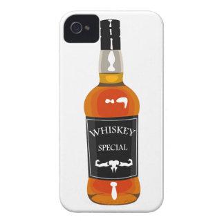 Carcasa Para iPhone 4 Dibujo de la botella de whisky aislado en