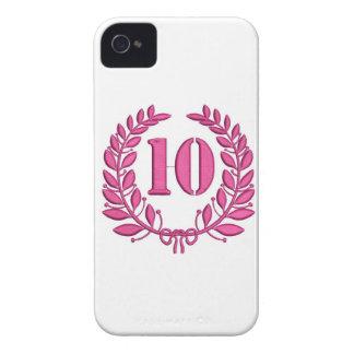 Carcasa Para iPhone 4 diez laureles - jubileo, imitación del bordado
