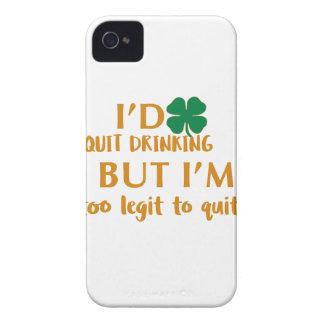 Carcasa Para iPhone 4 Diseño de consumición del día de St Patrick