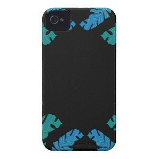 Carcasa Para iPhone 4 Diseño de las hojas en negro