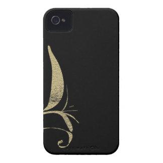 Carcasa Para iPhone 4 Diseños del modelo del Flourish del negro y del