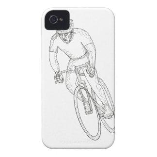 Carcasa Para iPhone 4 Doodle que compite con de la bicicleta del camino