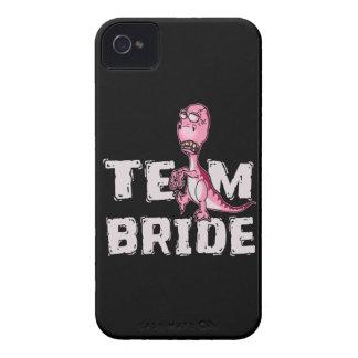 Carcasa Para iPhone 4 Ducha nupcial del dinosaurio del rosa de la novia