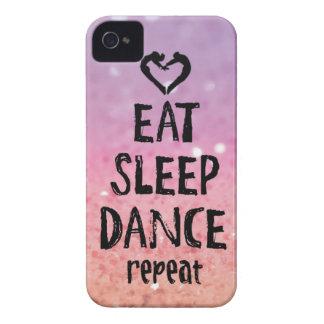 Carcasa Para iPhone 4 EatSleepDanceglitter.jpg