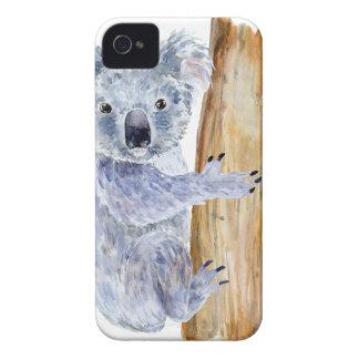 Carcasa Para iPhone 4 Ejemplo de la koala de la acuarela