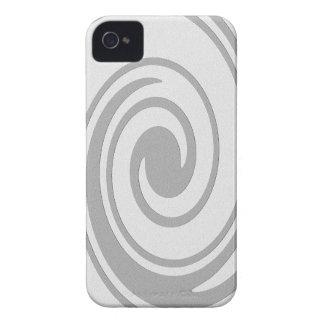 Carcasa Para iPhone 4 El fluir espiral gris del modelo de izquierda a