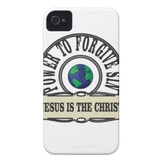Carcasa Para iPhone 4 El poder de Jesús perdona pecado en mundo
