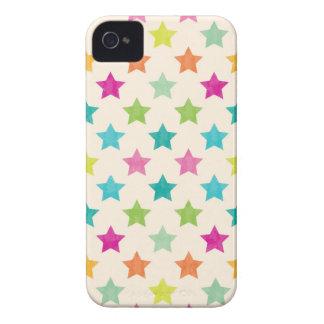 Carcasa Para iPhone 4 Estrellas coloridas IV