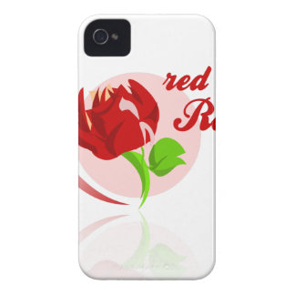 Carcasa Para iPhone 4 Flor roja de los enemigos
