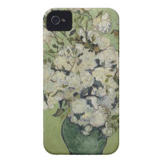 Carcasa Para iPhone 4 Florero de Vincent van Gogh de rosas que pintan