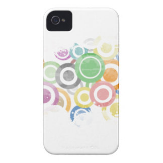 Carcasa Para iPhone 4 full of circles. Colorful and cool gift